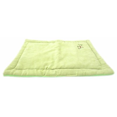Coral Fleece Dog Mat Size: Large (28 L x 23 W), Color: Apple Green