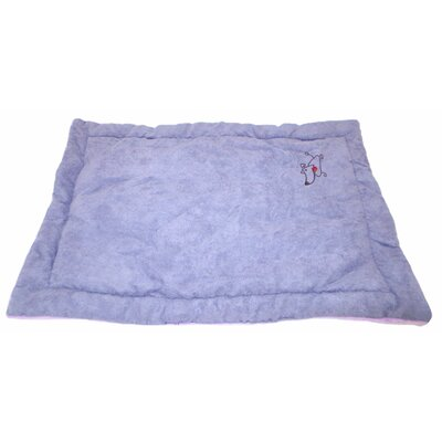 Coral Fleece Dog Mat Size: Large (28 L x 23 W), Color: Lavender