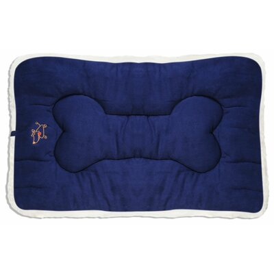 Crate Dog Mat Size: X-Small (18 D x 12 W), Color: Navy Blue