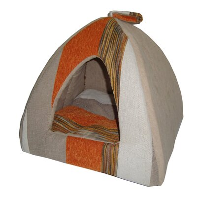 Striped Tent Dog Dome Color: Orange