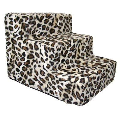 Animal Print 3 Step Pet Stair (Set of 2)