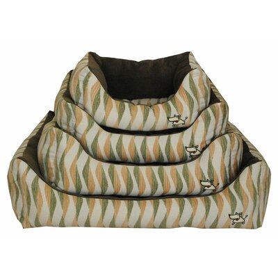"Waves Bolster Dog Bed Size: Extra Large (32"" L x 28"" W)"