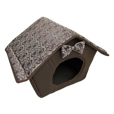 Soft Dog House Color: Brown