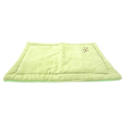 "Coral Fleece Dog Mat Size: Large (28"" L x 23"" W), Color: Apple Green"
