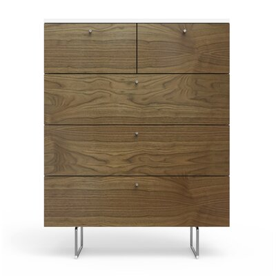 Alto 5 Drawer Chest Color: Walnut