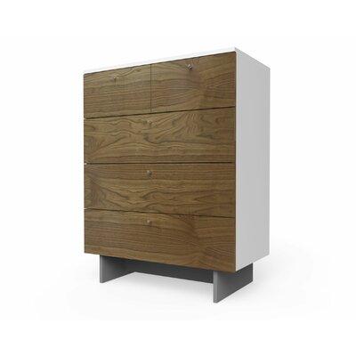 Roh 5 Drawer Dresser Finish: Walnut