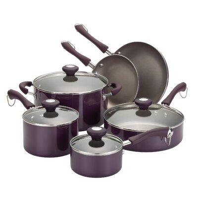 Paula Deen Porcelain Enamel Aluminum 10-Piece Cookware Set - Color: Purple at Sears.com
