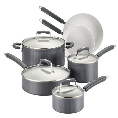 Savannah Hard-Anodized Nonstick 10 Piece Cookware Set