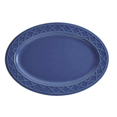 Savannah Trellis Stoneware Oval Serving Platter