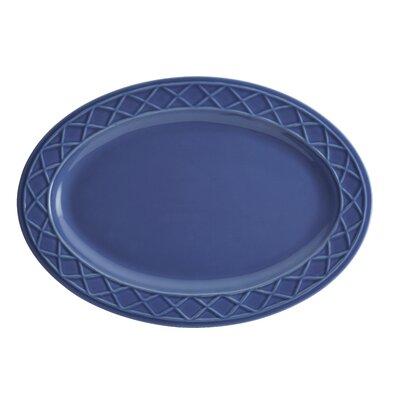 Savannah Trellis Stoneware Oval Serving Platter