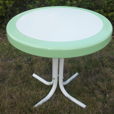 Metal Retro Round Side Table Finish: Lime