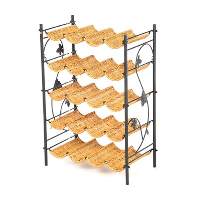 Wicker 20 Bottle Floor Wine Rack