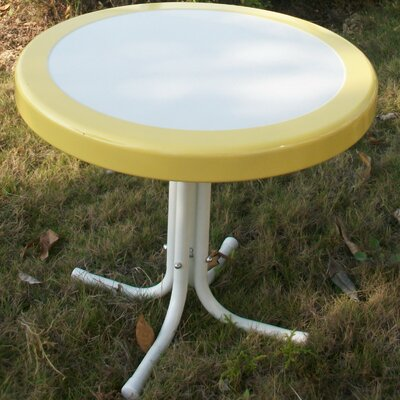 Metal Retro Round Side Table Finish: Yellow