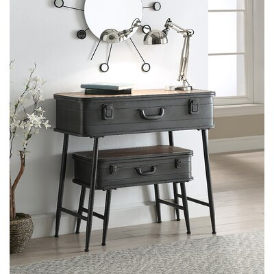 Krish Metal Trunk 2 Piece Nesting Tables
