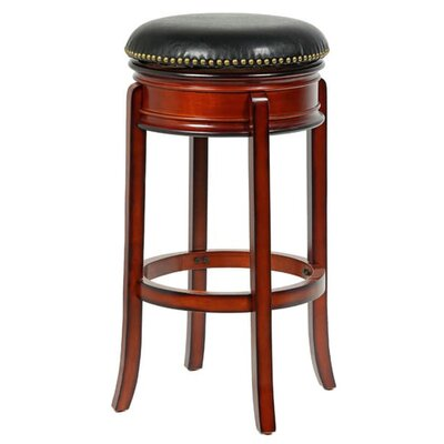 Heliodoro 24 Swivel Bar Stool Color: Brandy