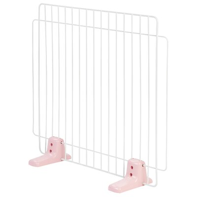 Self Standing Wire Pet Gate Size: Medium, Finish: Pink