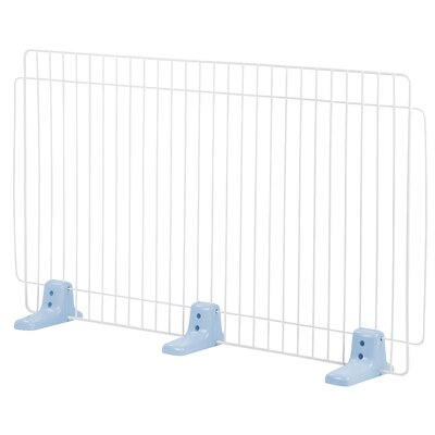 Self Standing Wire Pet Gate Finish: Blue, Size: Large