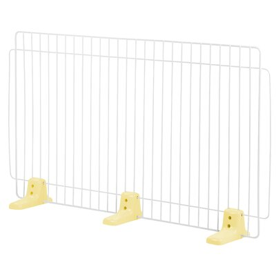 Self Standing Wire Pet Gate Finish: Yellow, Size: Large