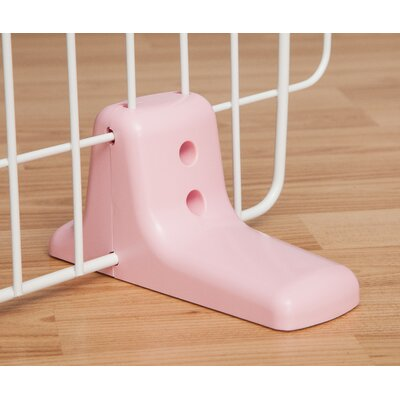 Self Standing Wire Pet Gate Finish: Pink, Size: Large