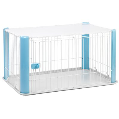 23.5 Deluxe Play Pet Pen Color: Blue