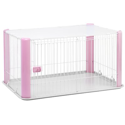 23.5 Deluxe Play Pet Pen Color: Pink