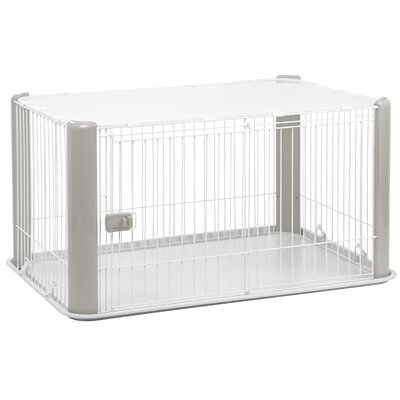 23.5 Deluxe Play Pet Pen Color: Gray