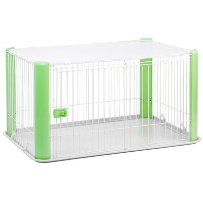 23.5 Deluxe Play Pet Pen Color: Green