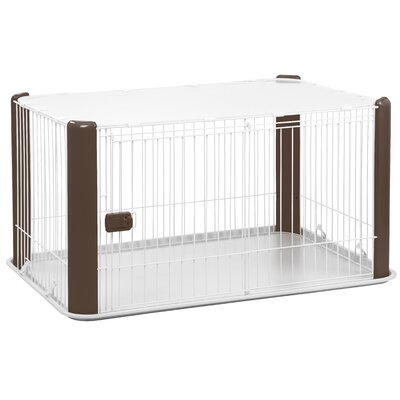 23.5 Deluxe Play Pet Pen Color: Brown