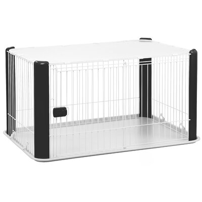 23.5 Deluxe Play Pet Pen Color: Black
