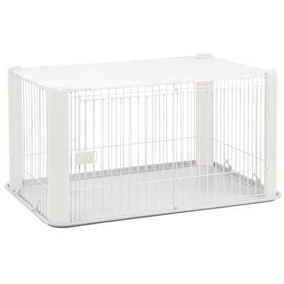 23.5 Deluxe Play Pet Pen Color: White