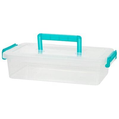 2.7 Quart Modular Latching Box Color: Teal