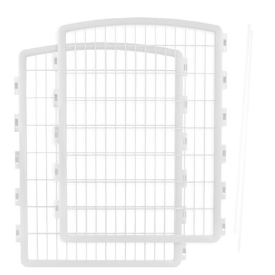 Expansion Kit for Indoor/Outdoor Plastic Pet Pen Color: White