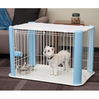 Deluxe Pet Pen Color: Blue