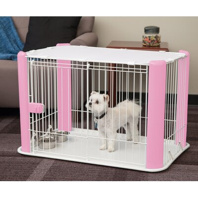 Deluxe Pet Pen Color: Pink