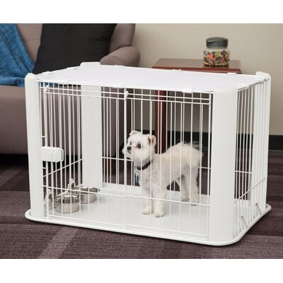 Deluxe Pet Pen Color: White