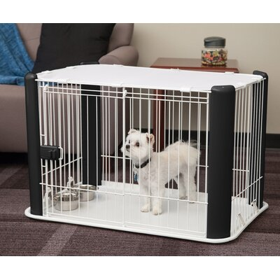 Deluxe Pet Pen Color: Black