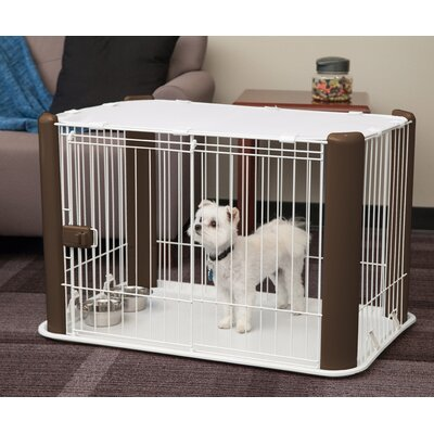 Deluxe Pet Pen Color: Brown