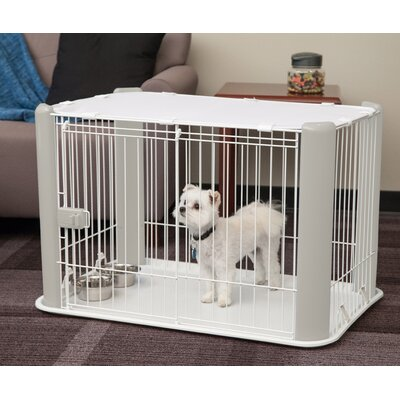 Deluxe Pet Pen Color: Gray