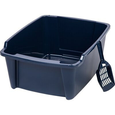 High Sided with Scoop Litter Pan Color: Navy