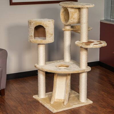 47 Carpeted Cat Tree
