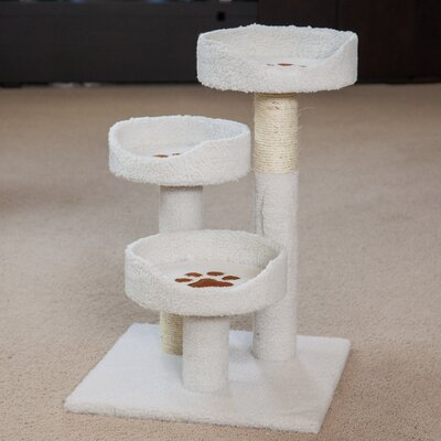 28 Carpeted Cat Tree