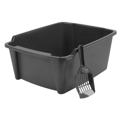 High Sided with Scoop Litter Pan Color: Gray