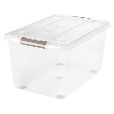 61 Quart Store and Slide Storage Box Color: Gray/Clear