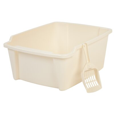 High Sided with Scoop Litter Pan Color: Ivory