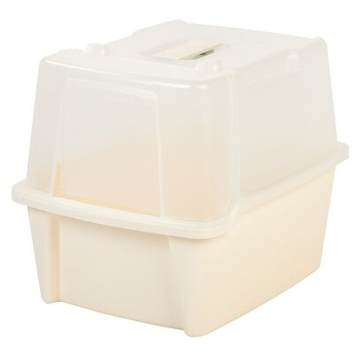 Split-Hood Litter Box Color: Ivory