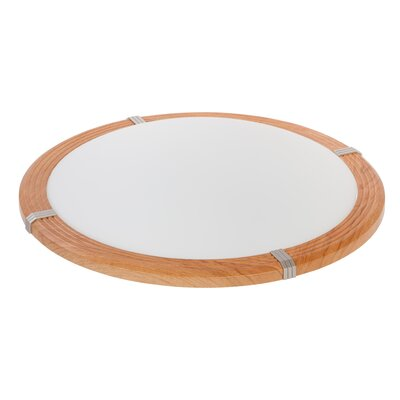 Ohyama 1-Light Flush Mount Base Finish: Light Brown