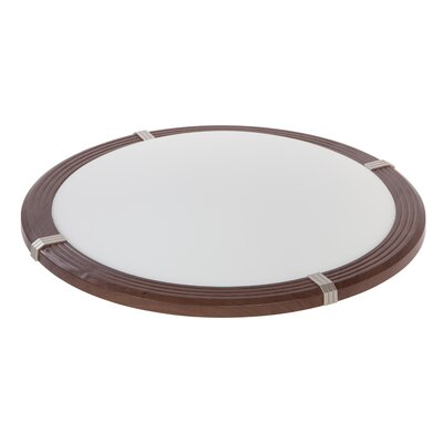 Ohyama 1-Light Flush Mount Base Finish: Dark Brown