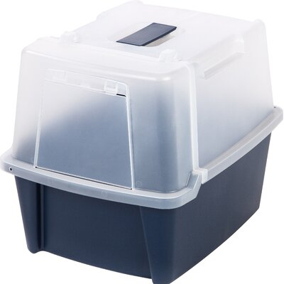 Split-Hood Litter Box Color: Navy