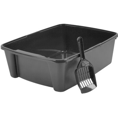 Litter Box with Scoop Color: Gray