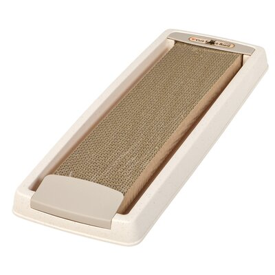 Cat Scratching Board with Tray Color: Ivory